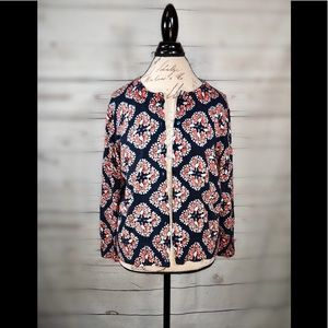 Crown and ivy peacock print work casual cozy #47 C